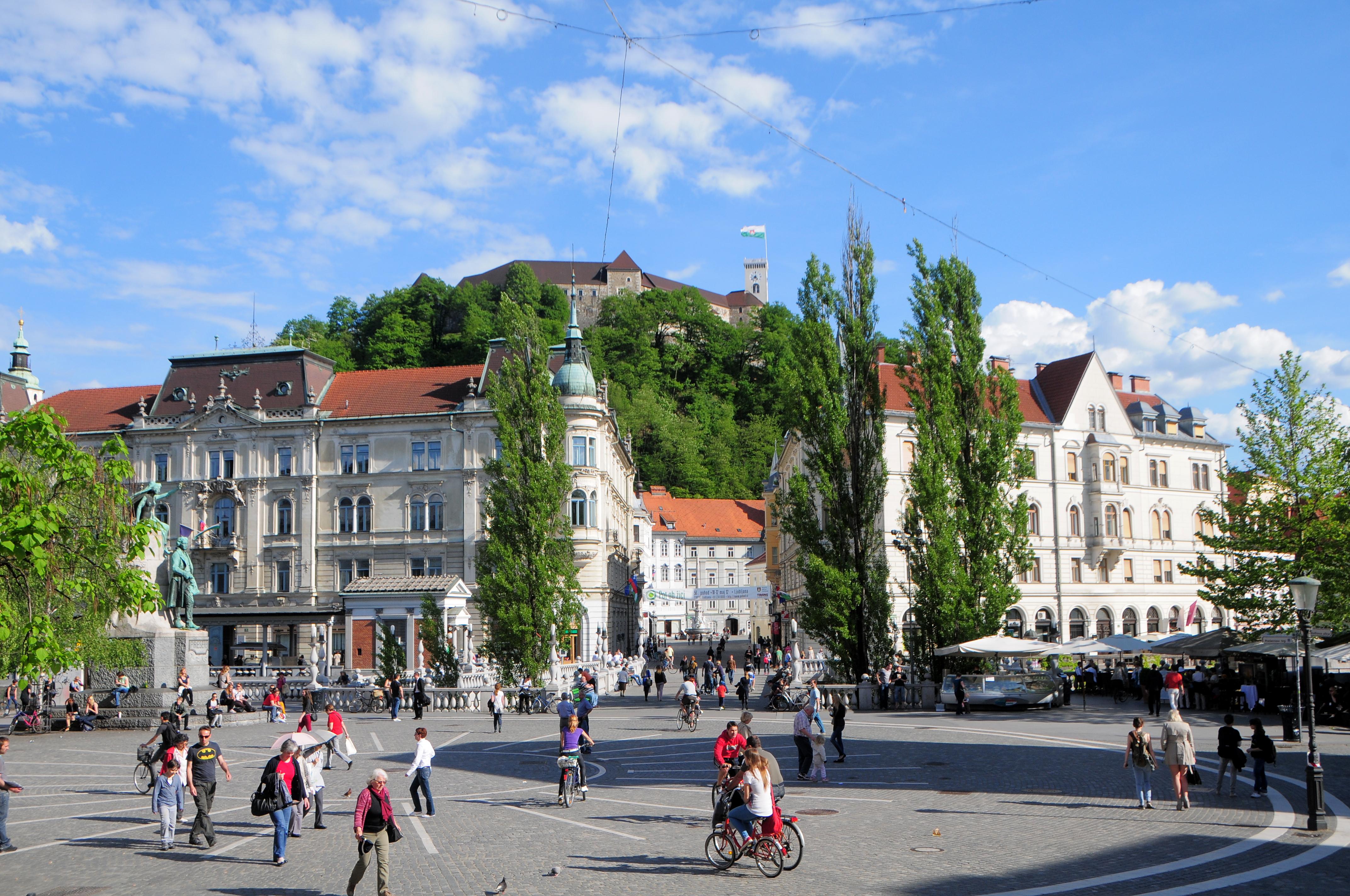 Veduta Presernov in Ljubljana, Slovenia photo by Dunja Wedam